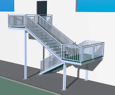 Progetto scala esterna for Scale esterne design