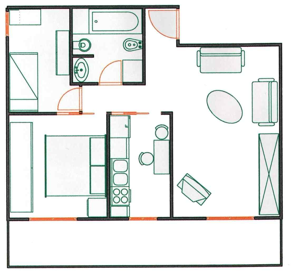 Casa immobiliare, accessori: Pianta di casa