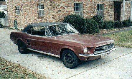 bruce's cars 1967 ford mustang
