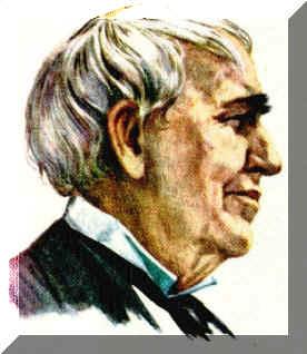 storia della lampadina : Nellafoto accanto ? riportata una immagine di ThomasAlva Edison all ...