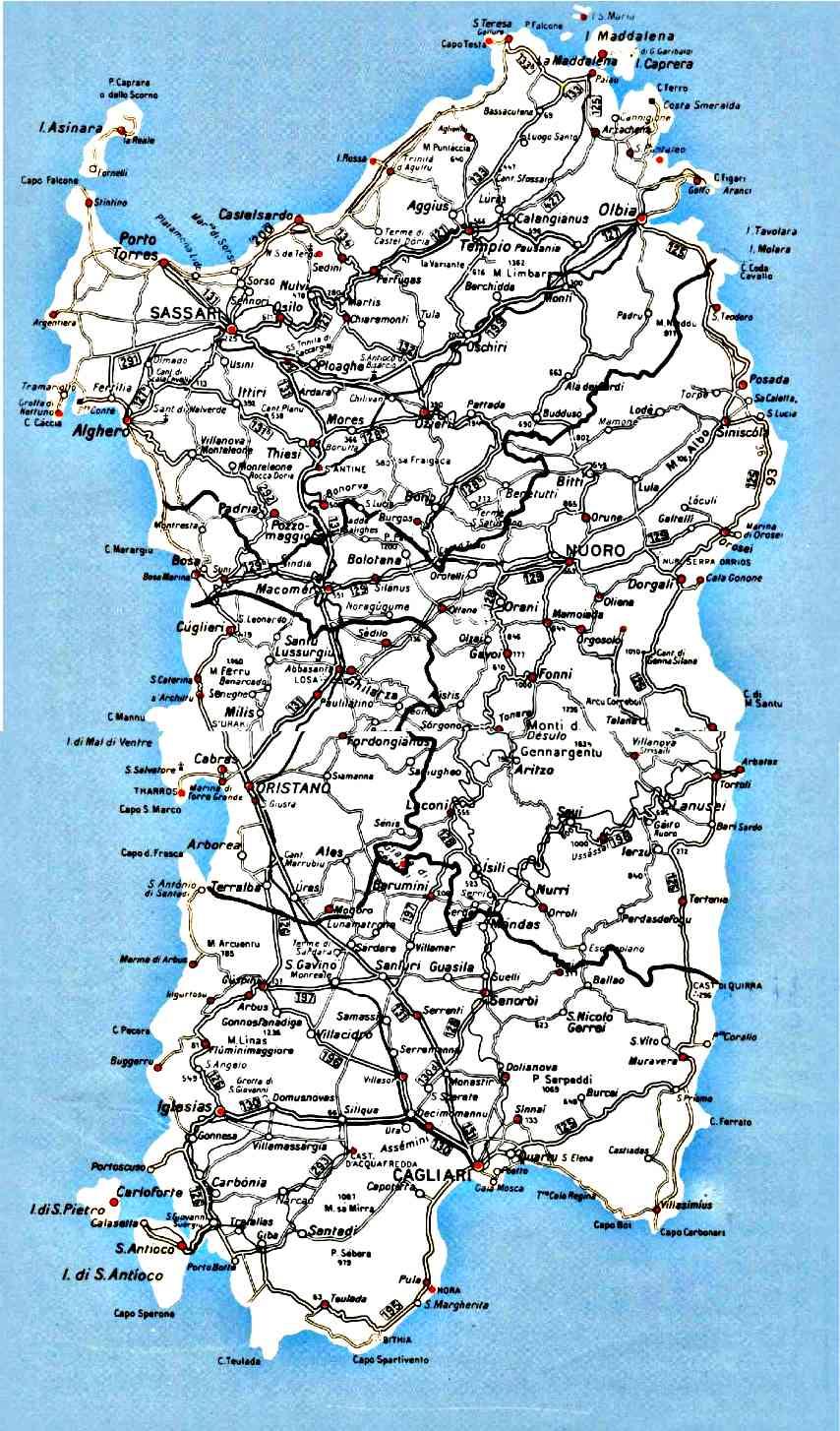 Cartina Sardegna Immagini.Cartina Sardegna