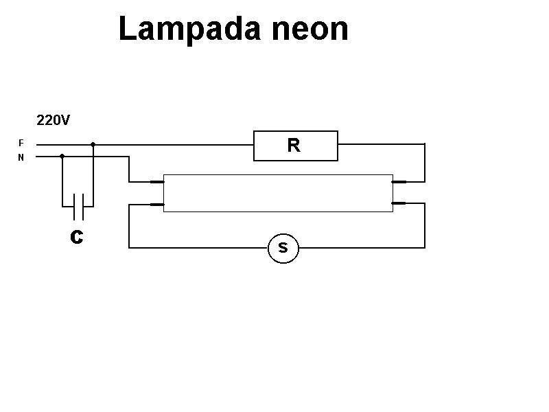 Schema Collegamento Neon Circolare : Lampada fluorescente
