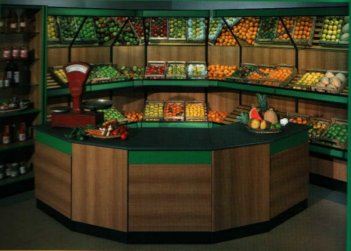 Allestimenti per negozi di frutta e verdura for Idee per arredare un negozio di frutta e verdura