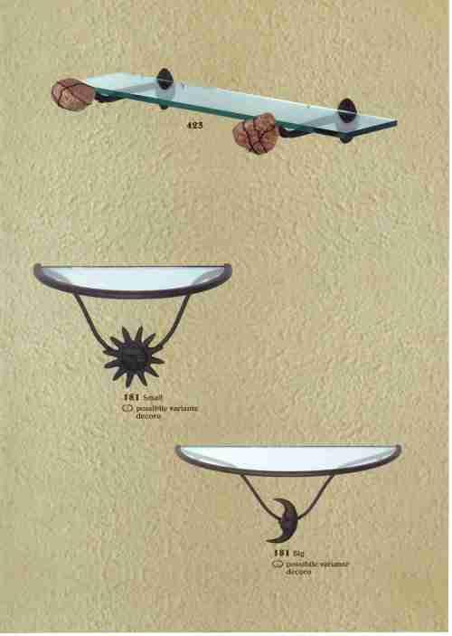Bagno for Mensole in ferro battuto