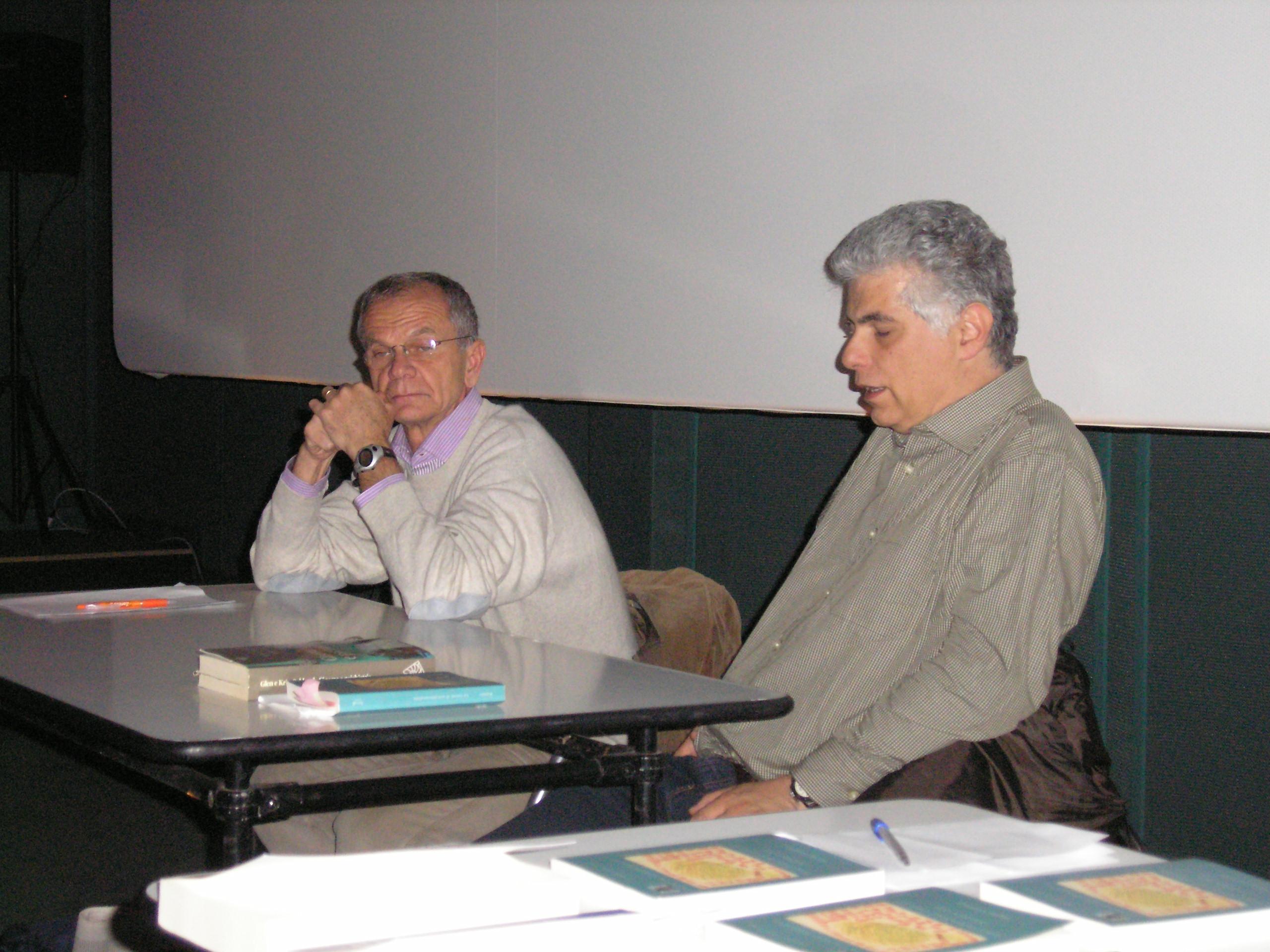 """Lezione                                                                                                    al Festival del Cinema Europeo del 2010 su """"Cinema e psicoanalisi"""":                                                                                                    G. Riefolo, G. Leo"""