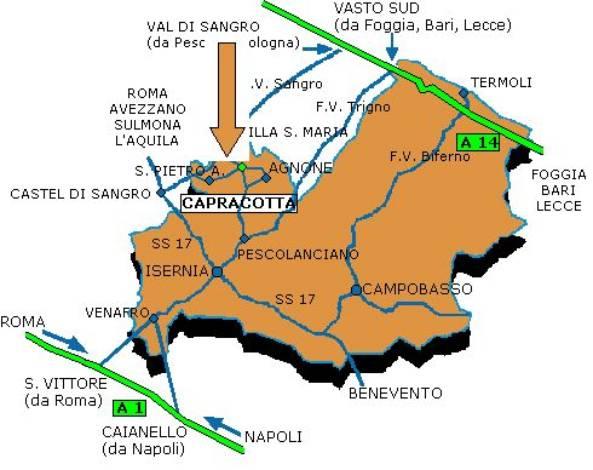Cartina Geografica Roccaraso.Le Trasfete Osservative I Siti Da Noi Raggiunti San Pietro Avellana Is