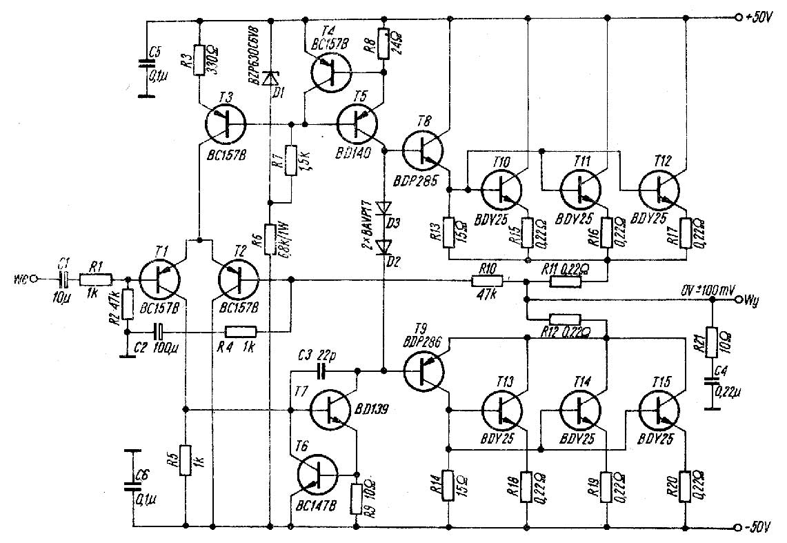 amplificador 100w tip142  147