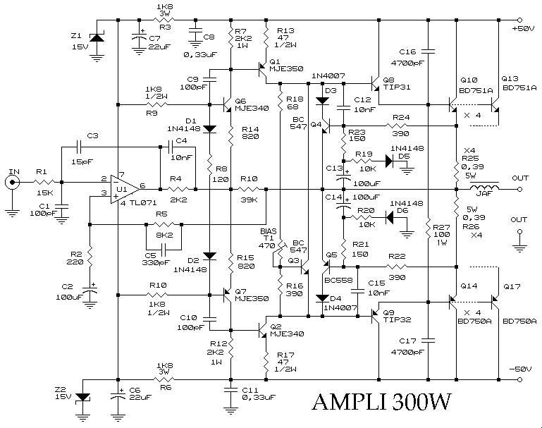 ampli 300w