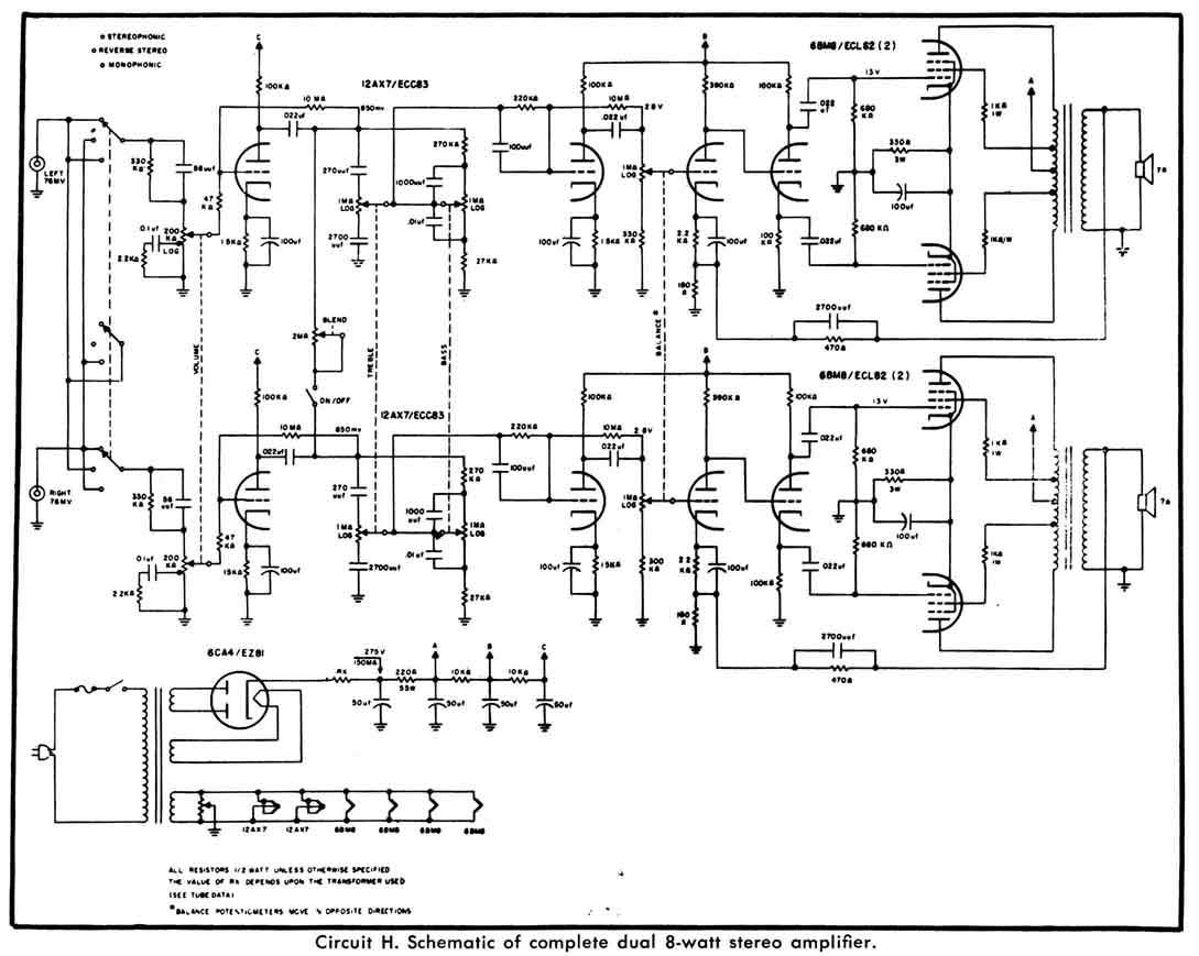 Audiofanaticschemi Pphtml Amplifier With El34 Ecc83 Ecc82 Circuit Schematic Explanation Ecl82