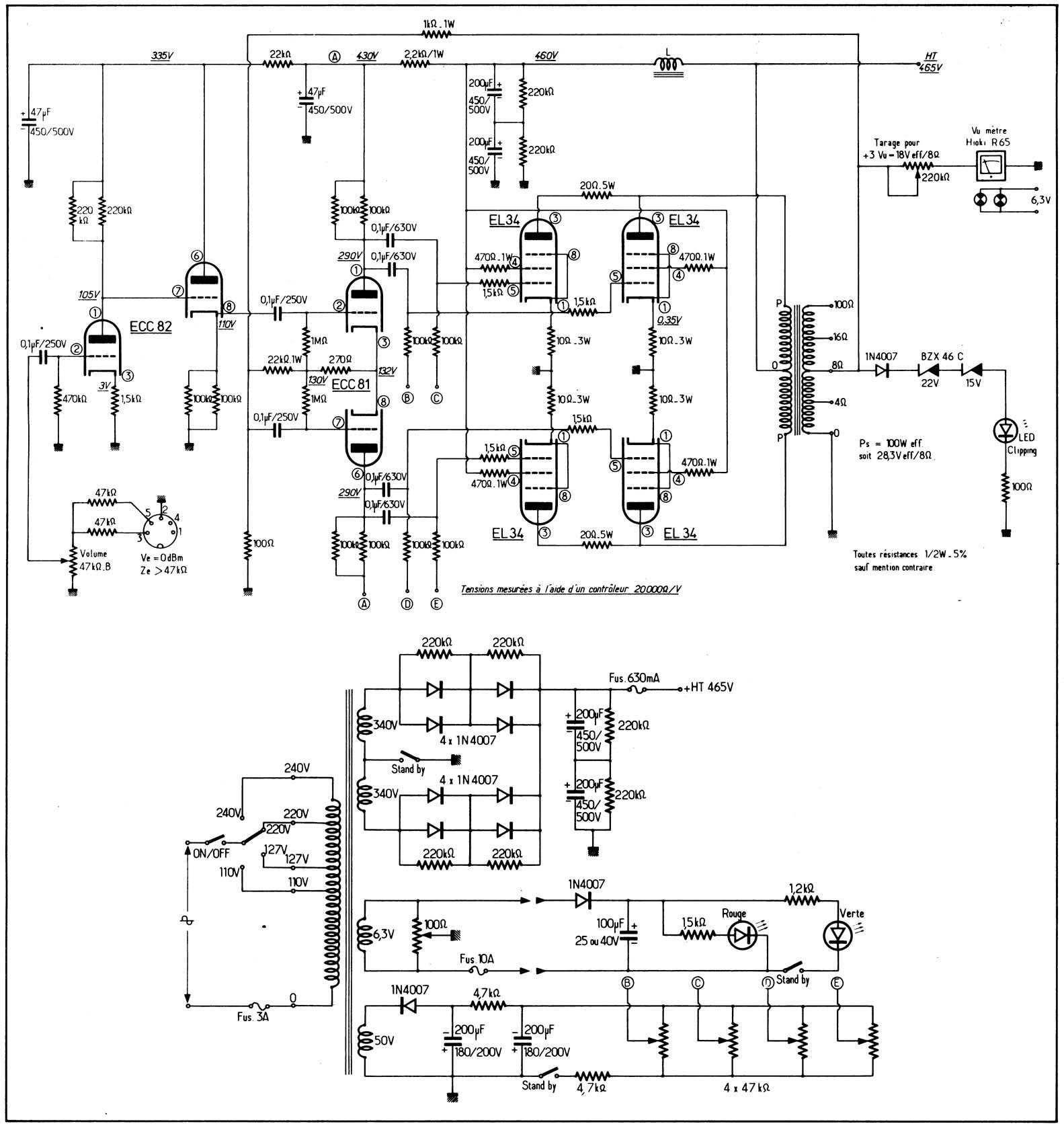 Audiofanaticschemi Pphtml 10w 6l6 Push Pull Amplifier