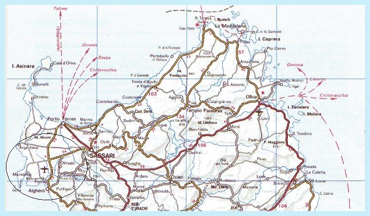 Sardegna Del Nord Cartina.Dove Siamo