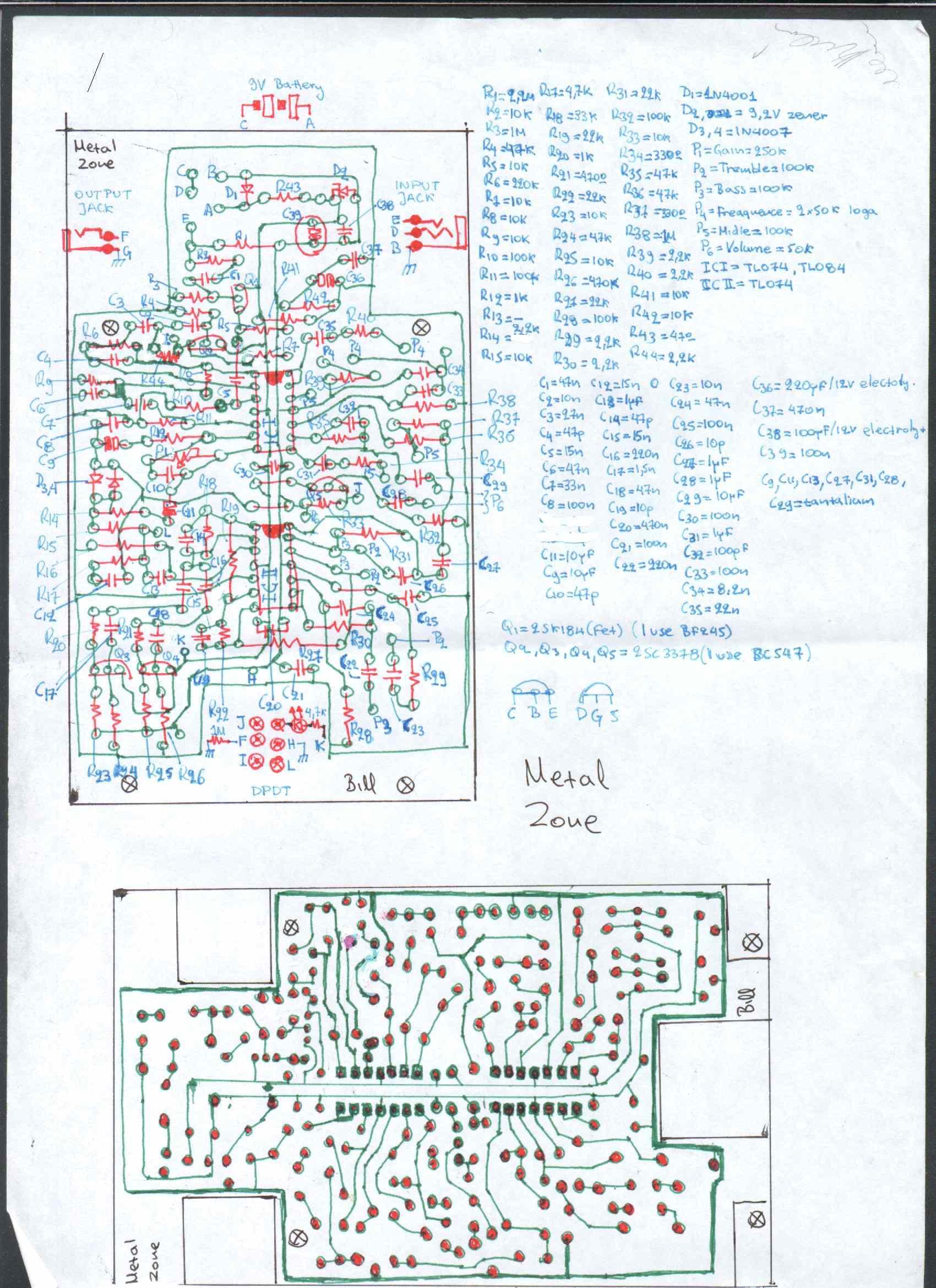 boss metal zone schematic tremolo schematic