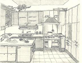 Casa di sara for Disegni di case in prospettiva