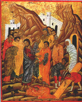 La resurrezione di Lazzaro dans immagini sacre