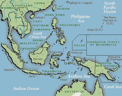 Cartina Bali Indonesia.Bali
