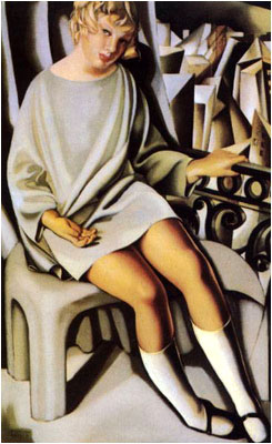 Tamara de Lempicka - Kizette al balcone - 1927