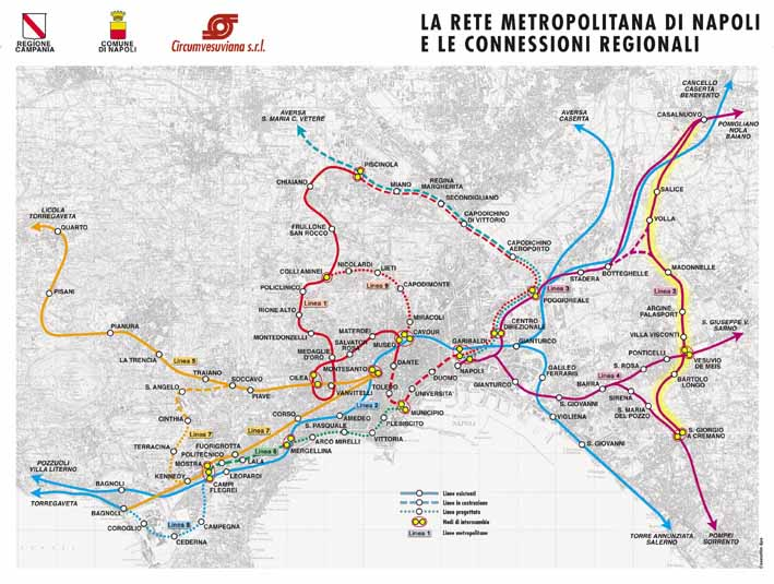 Napoli Subway Map.Naples Metro System Unofficial Page With Frames