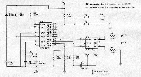 Schema Elettrico Potenziometro : Il seguente circuito effettua tutte le funzioni di un