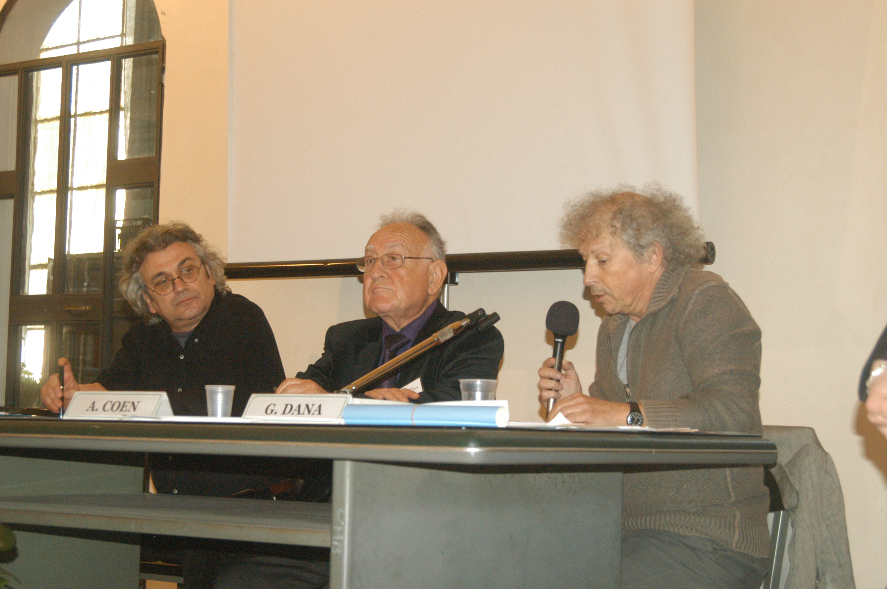 2008,                                                                                                         I° Congresso Id-entità mediterranee: C. Trono, A. Coen, G. Dana