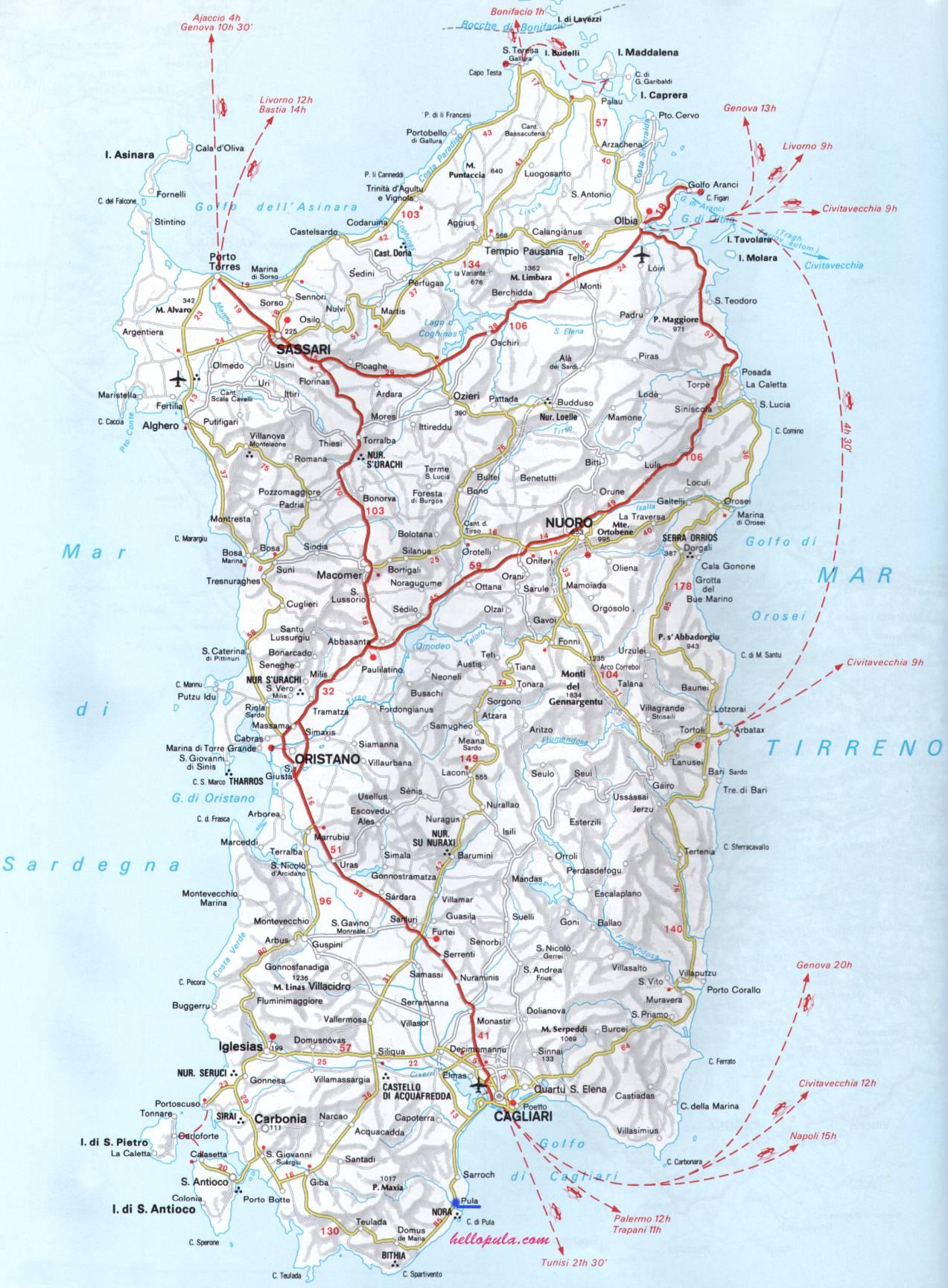Cartina Stradale Sardegna Pdf.Maps Hellopula Com