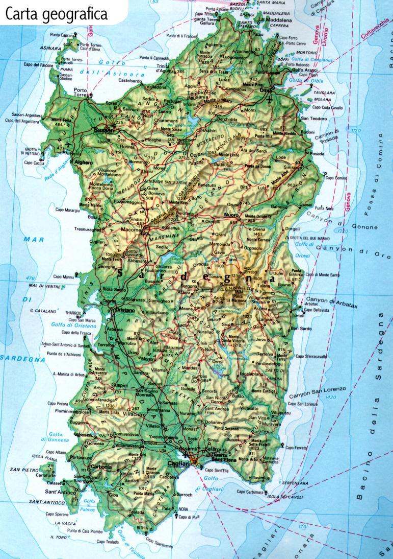 Cartina Stradale Nord Sardegna.Maps Hellopula Com
