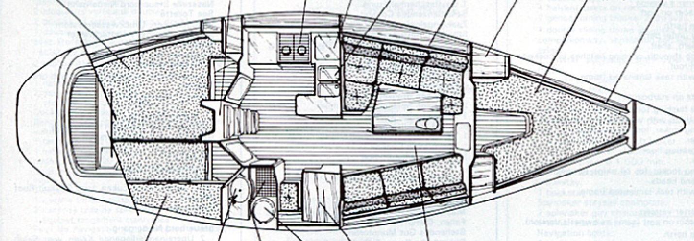 Beneteau first 375 for Planimetria interna