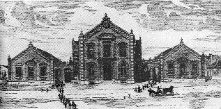 L' edificio delle scuole e del teatro