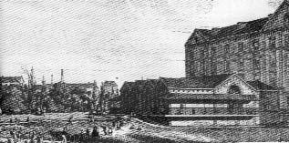 L' edificio dell' asilo accostato al corpo centrale