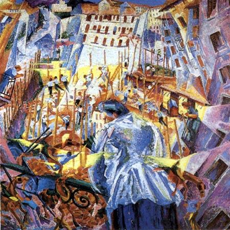 Boccioni, La strada entra nella casa , 1911