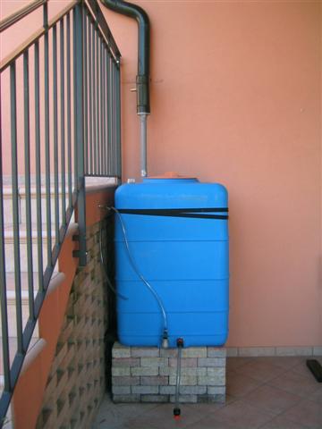 Recupero acqua for Serbatoio di acqua di rame