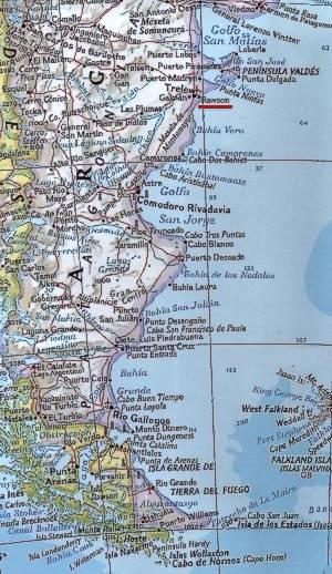 Patagonia Cartina Geografica.Carta Geografica Patagonia