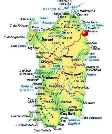 Arbatax Cartina Geografica.Proprieta Familiare Cartina Sardegna Dettagliata