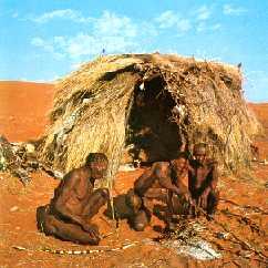 La tipica abitazione boscimane