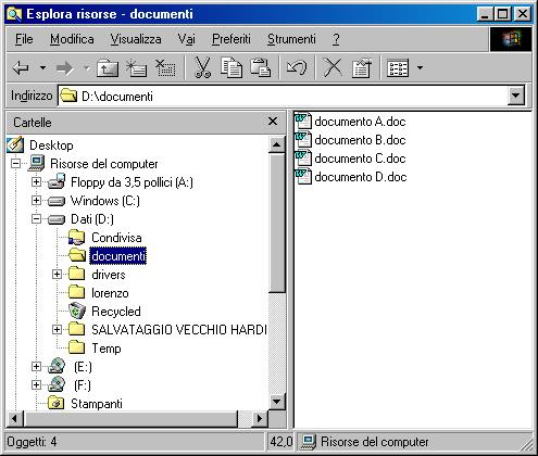 tutti i documenti selezionati (.zip)