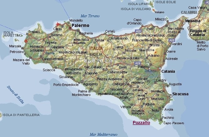 Sicilia Occidentale Cartina Stradale.Cartina Sicilia