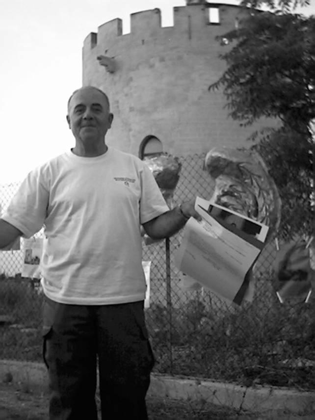 """""""In ricordo di GIORGIO DI LECCE"""" - Il Poeta Prof. Maurizio Nocera (Foto: Archivio dell'Osservatorio Torre di Belloluogo)"""