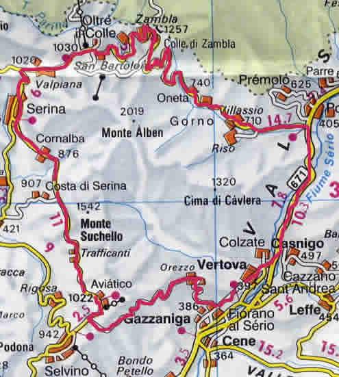 cartina della pedalata