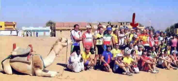 Febbraio: Enzo alla Maratona del Nilo,non pago delle cavalcate in Europa ha trovato nuove motivazioni in Africa!