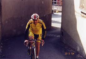Salvatore in un impegnativo passaggio a Viganò.