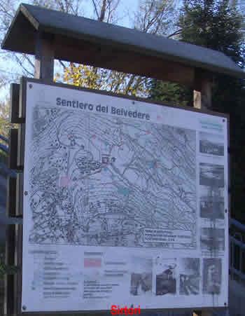 Mappa dei sentieri in quel di Sirtori.