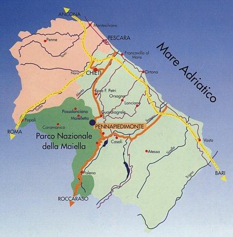 Cartina Geografica Roccaraso.Cartina Dell Abruzzo