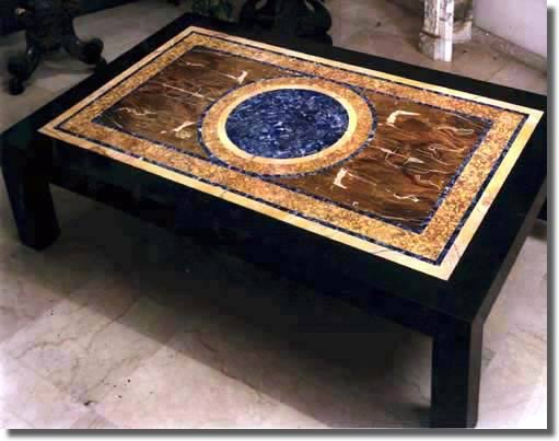 Tavoli Di Marmo Intarsiati : Tavoli intarsiati marmi antichi