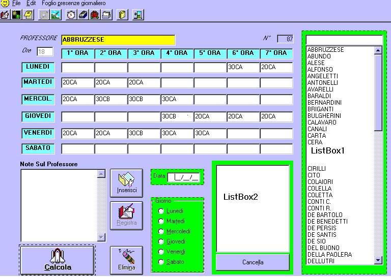 Calendario Presenze Excel.Profhlp