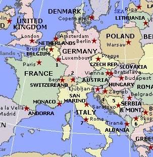 Cartina Politica Dell Europa Con Capitali.Cartina Politica Delleuropa Con Capitali Da Stampare