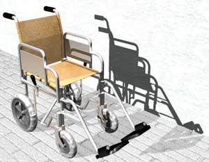 Progetto della sedia a rotelle fs904 scafoletti s r l for Sedia a rotelle ruote piccole