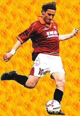 Il capitano della Roma Francesco Totti