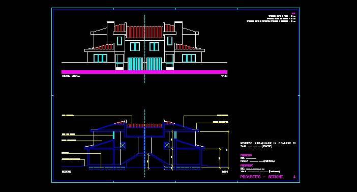Da questi collegamenti potrete vedere alcuni elborati for Progetto casa autocad