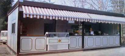 Chiosco bar prefabbricato usato