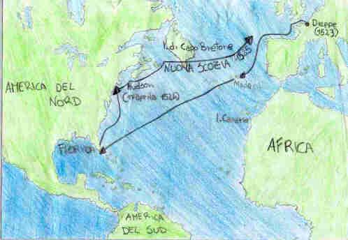Amerigo Vespucci Map Of America.Italian Explorers