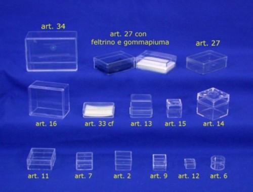 scatole plastica trasparenti